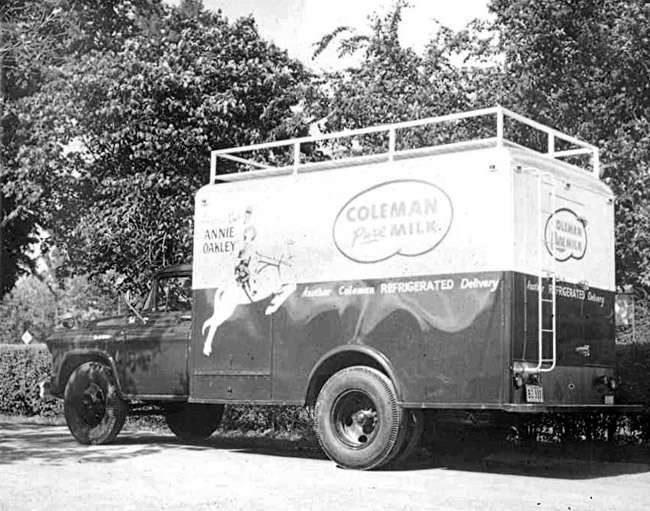 Coleman Dairy Delivery Truck