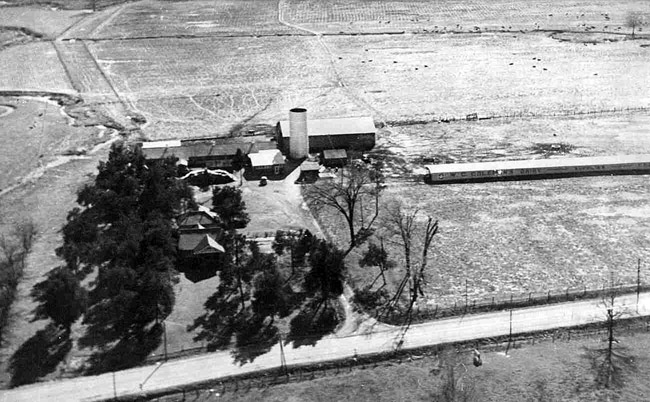 Aerial View of Coleman Dairy