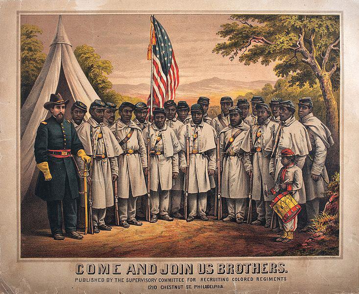 Colored Regiments Recruitment Poster