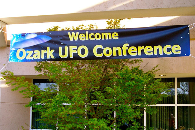 UFO Conference Sign