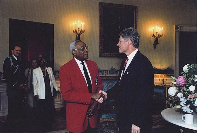 Woodrow W. Crockett and Bill Clinton
