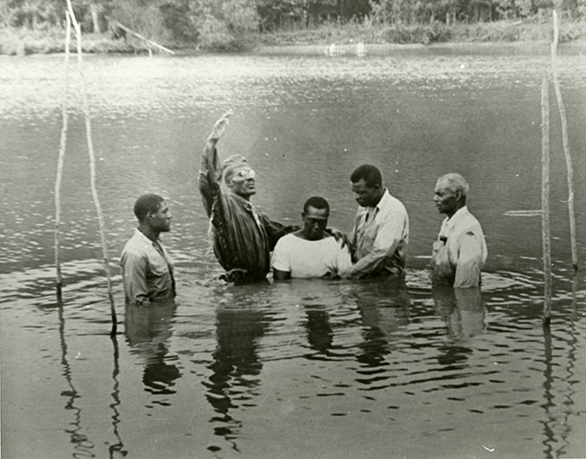 Baptism at Cummins