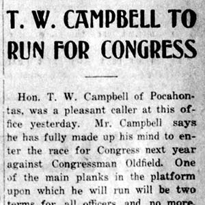 T. W. Campbell Article