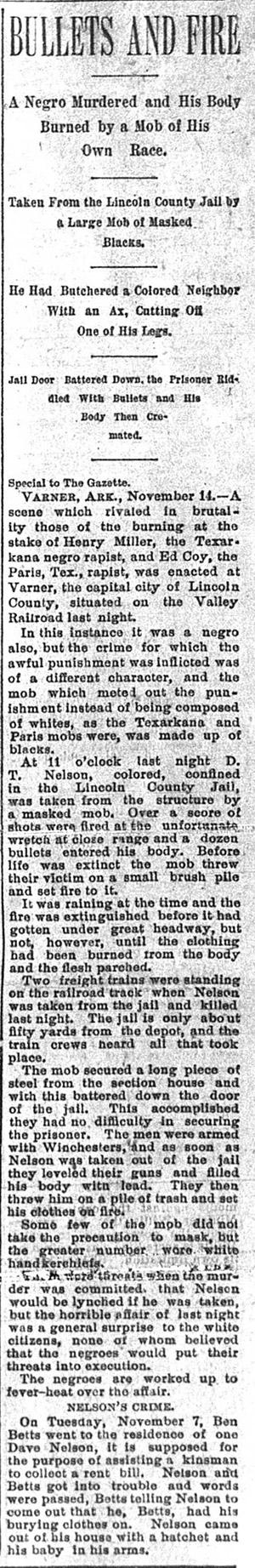 Nelson Lynching Article