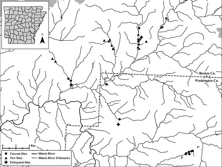 Arkansas Darter Locations