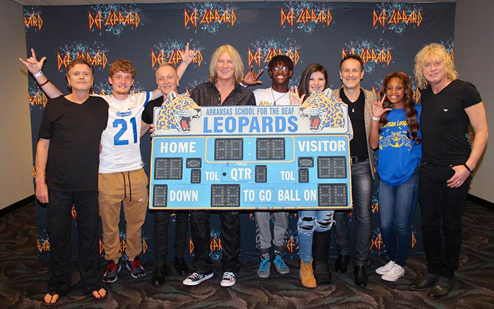 Def Leppard with Students from Arkansas School for the Deaf