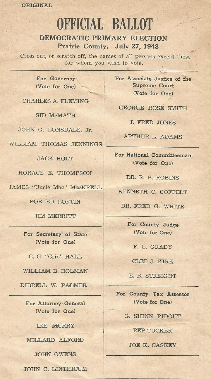 1948 Primary Ballot