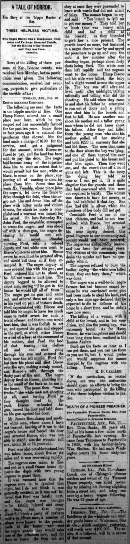 Biscoe Lynching Article