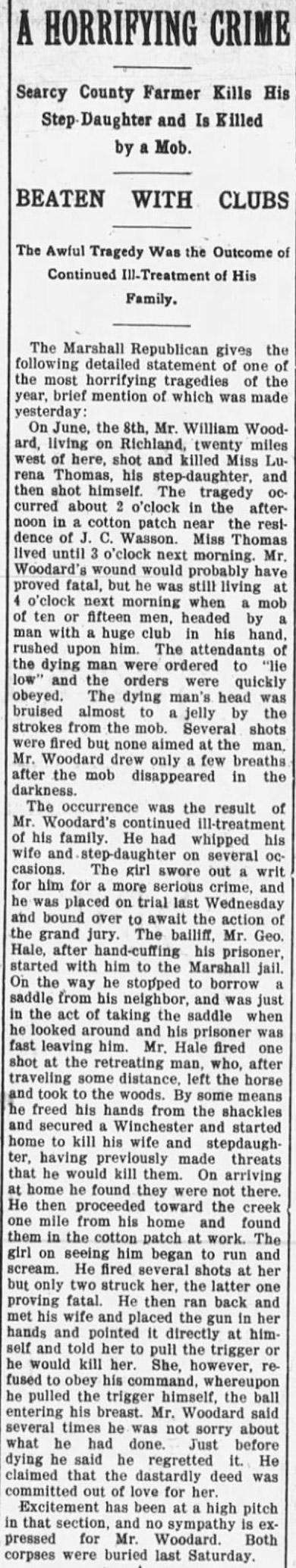 Woodward Lynching Editorial
