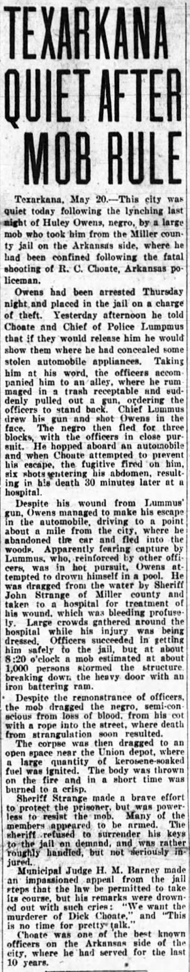 Owen Lynching Article