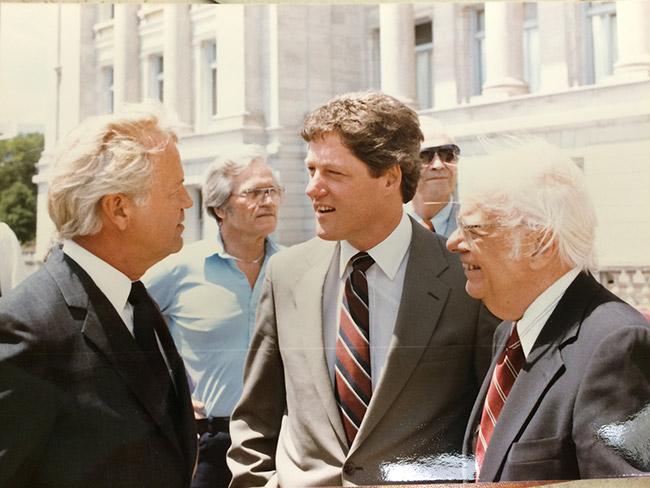 George Douthit and Bill Clinton