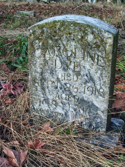 Caroline Dye's Gravestone