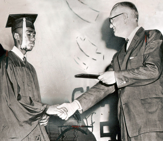 Ernest Green Receives Diploma