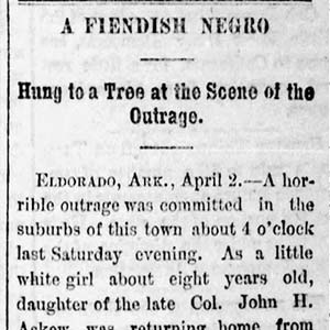Albert Williams Lynching Article