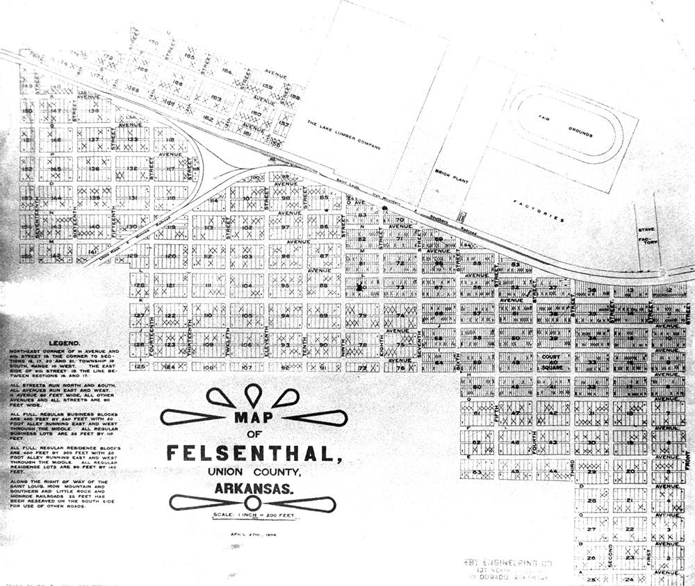 Felsenthal Map