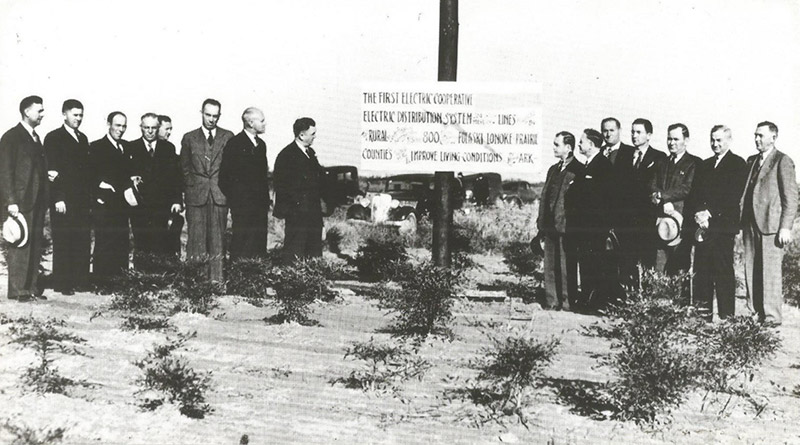 First Electric Cooperative's First Power Pole