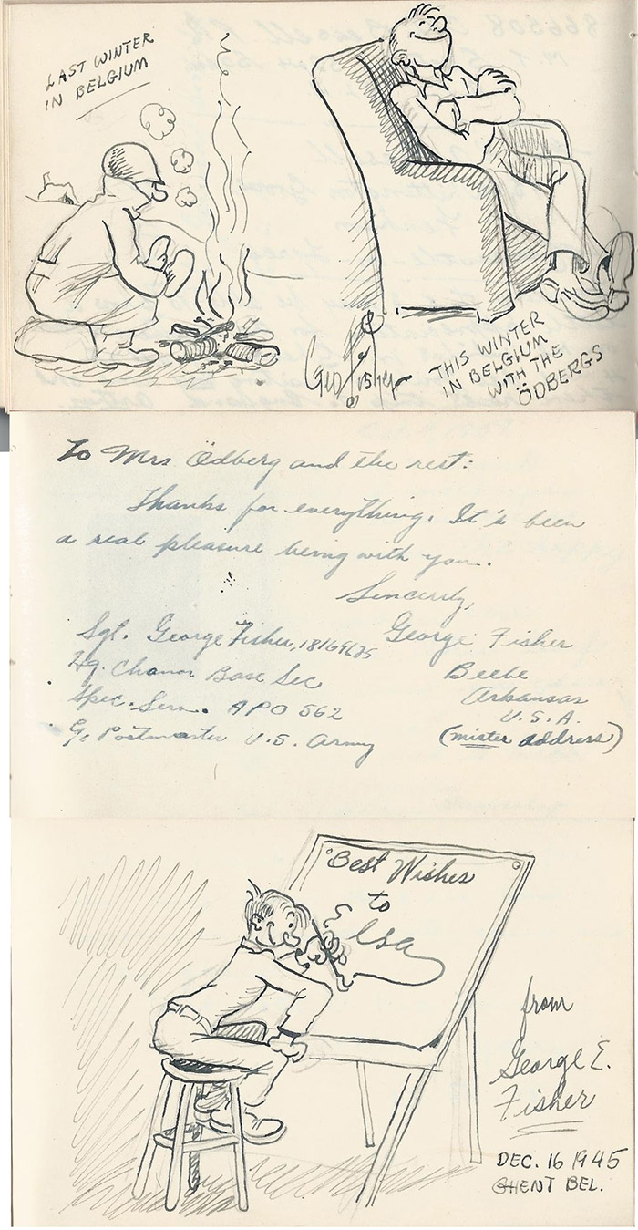 George Fisher WWII Cartoons