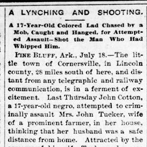 John Cotton Lynching Article
