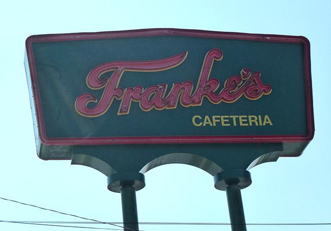 Franke's Cafeteria Sign