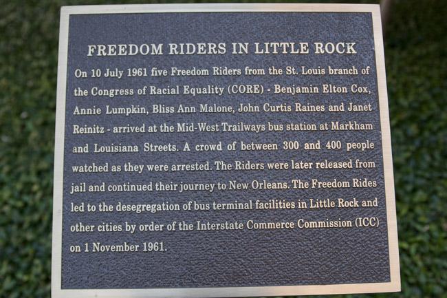 Freedom Riders Plaque