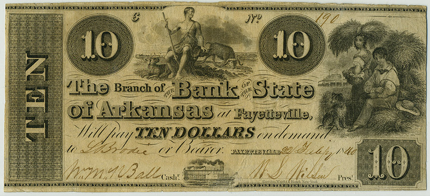 Arkansas State Bank Note, 1840