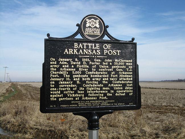 Battle of Arkansas Post Marker