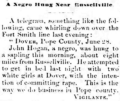 John Hogan Lynching Article