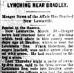 Frank Robertson Lynching Article
