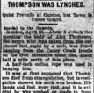 Alex Thompson Lynching Article