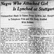 Stuttgart Lynching Article