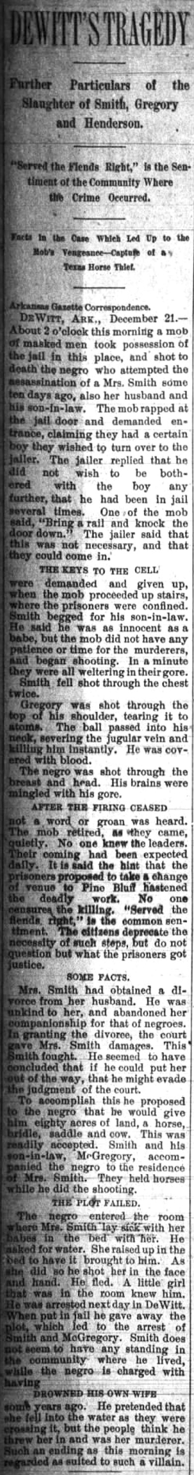 DeWitt Lynching Article