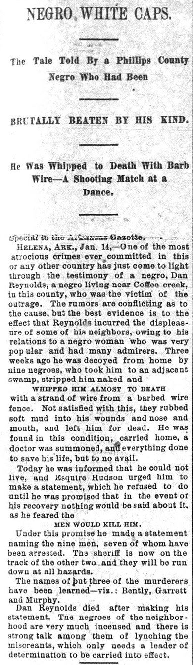 Reynolds Lynching Article