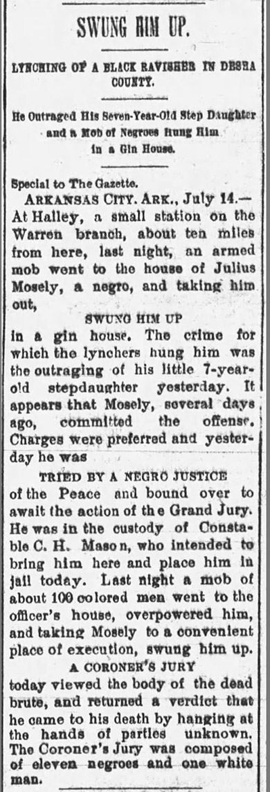 Mosely Lynching Article