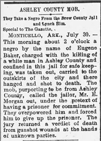 Baker Lynching Article