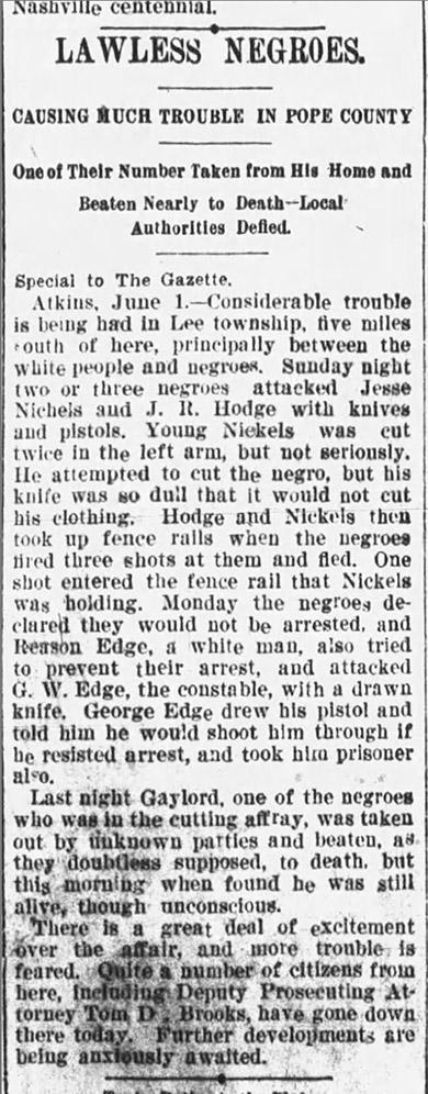 Atkins Race War Article