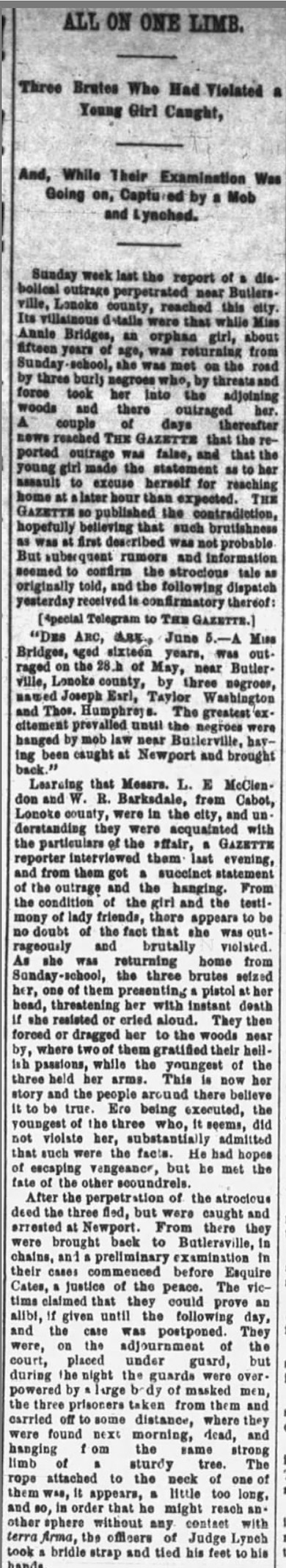 Butlerville Lynching Article
