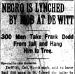 Dodd Lynching Article