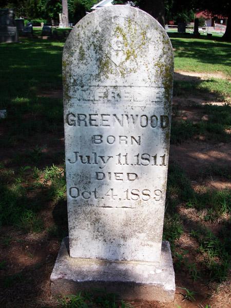 Alfred Burton Greenwood's Tombstone
