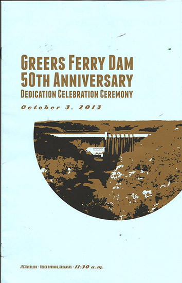 Greers Ferry Dam 50th Anniversary Brochure