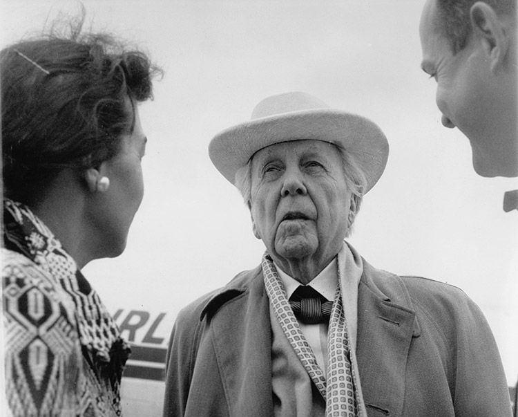 Greeting Frank Lloyd Wright