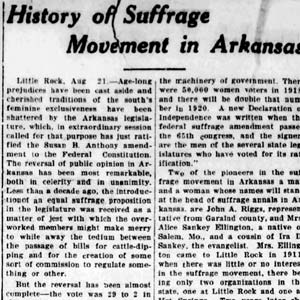 Suffrage Article