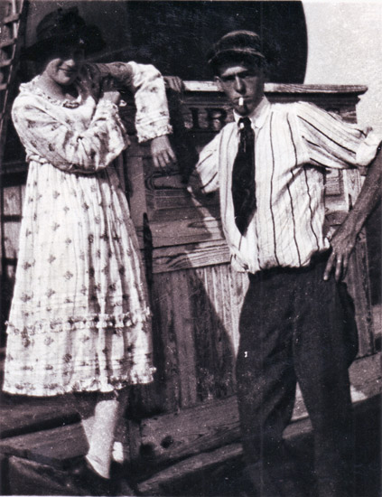 Helen Spence and Buster Eaton
