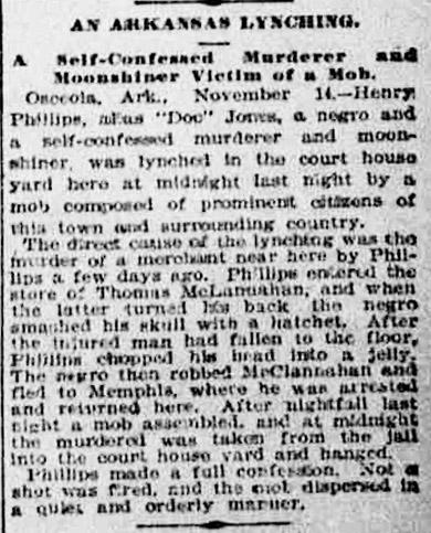 Phillips Lynching Article