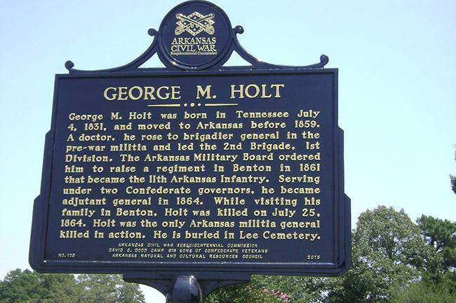 George M. Holt Marker