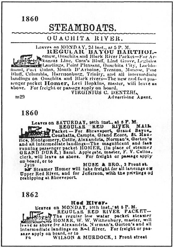 Steamboat Schedule