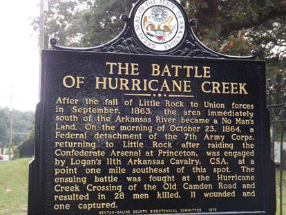 Hurricane Creek Marker