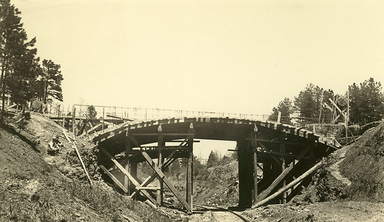 Old Highway 16 Bridge Construction