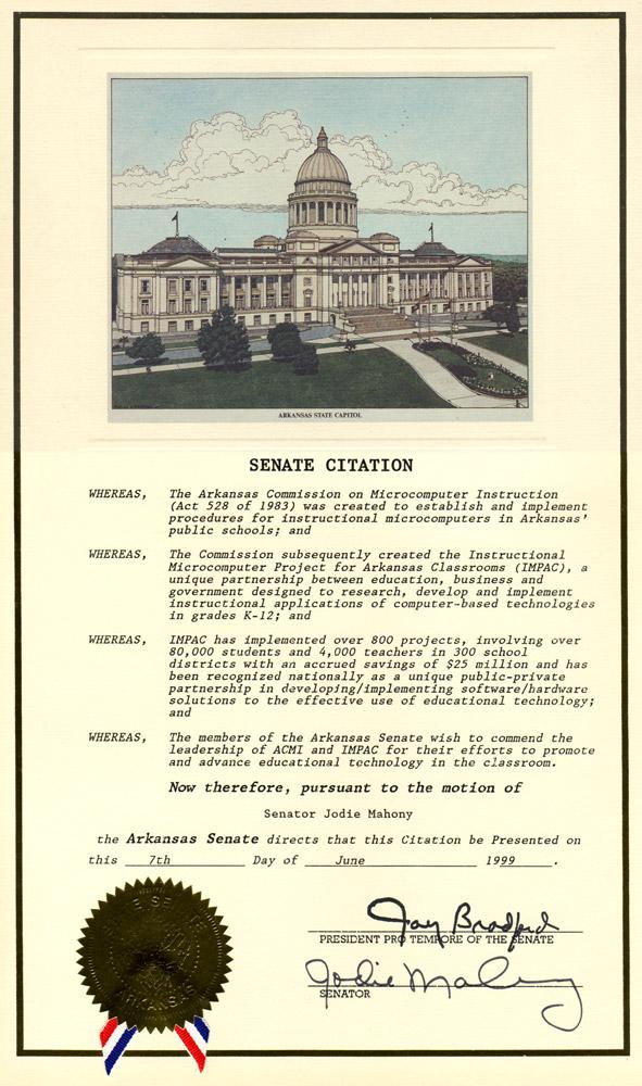 IMPAC Senate Citation