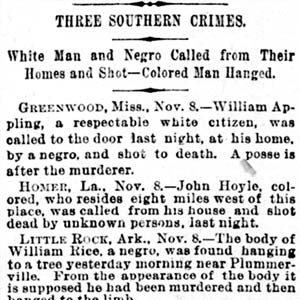 William Rice Lynching Article