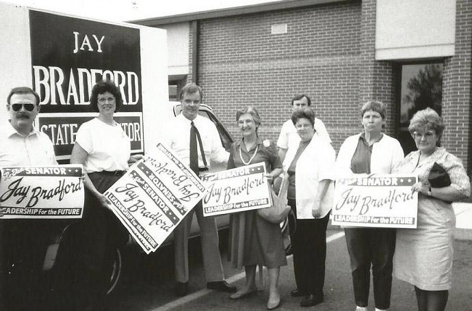 Jay Bradford Campaigning